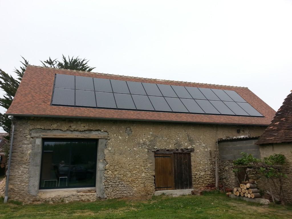 panneaux solaires chez un particulier